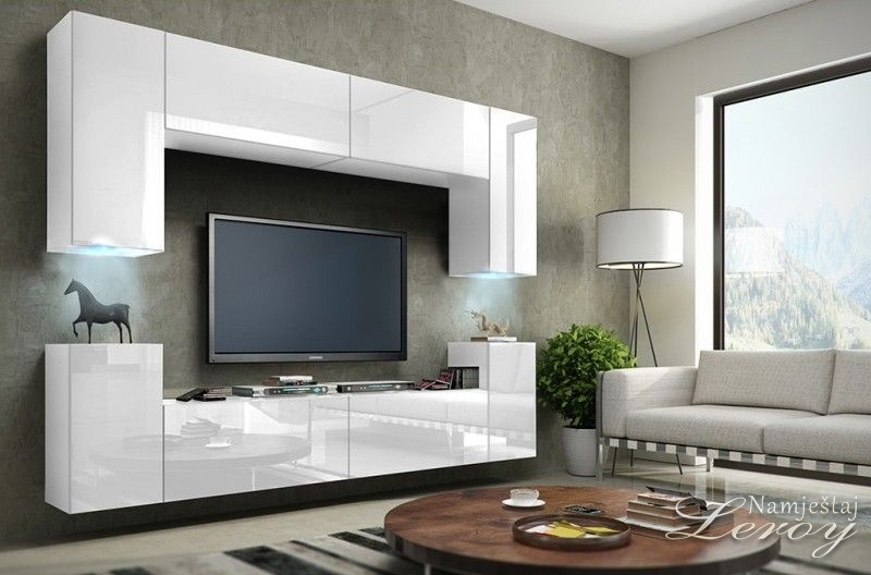 regal za dnevni boravak zeus leroy namje taj. Black Bedroom Furniture Sets. Home Design Ideas